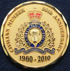 RCMP Civilian Member British Columbia 50th Anniversary