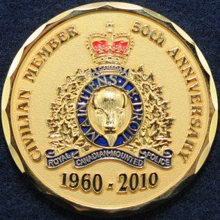 RCMP Civilian Member 50th Anniversary E Division