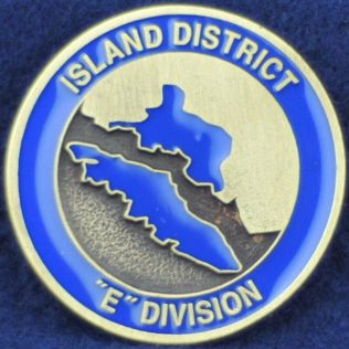 RCMP E Division Island District (gold)