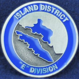 RCMP E Division Island District (silver)