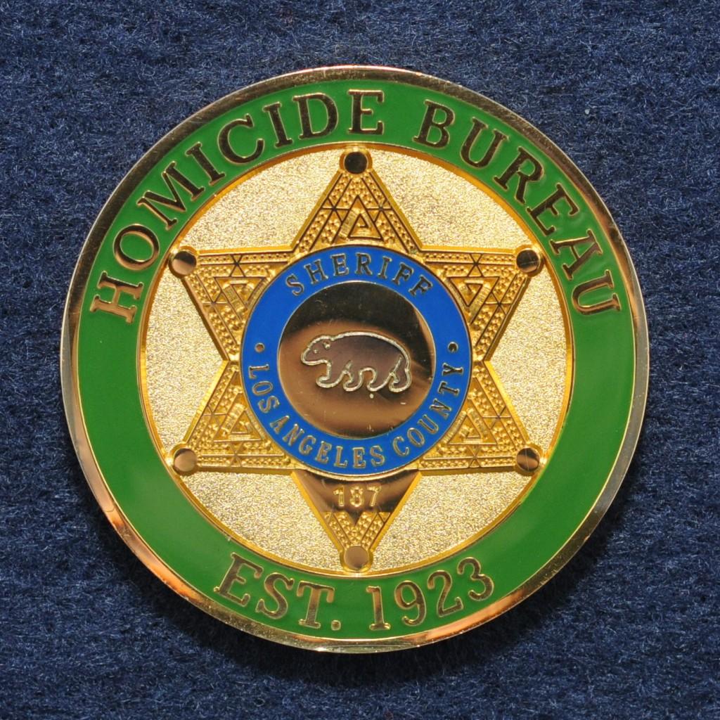 homicide unit challenge coins