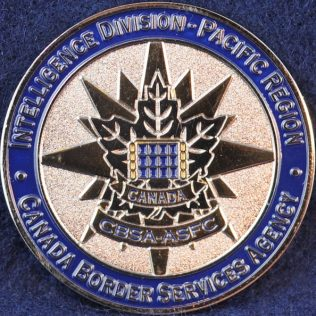 Canada Border Services Agency CBSA Intelligence Division - Pacific Region blue