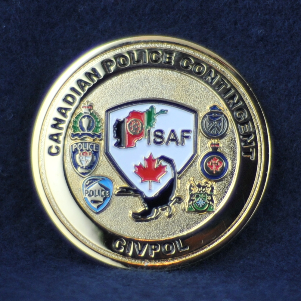 Canadian Police Contingent CIVPOL - ISAF - Challengecoins.ca