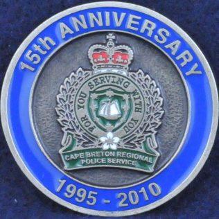 Cape Breton Regional Police Service 15th Anniversary