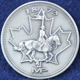 RCMP 1873 MP pewter