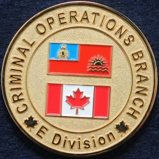 RCMP E Division Criminal Operations Branch