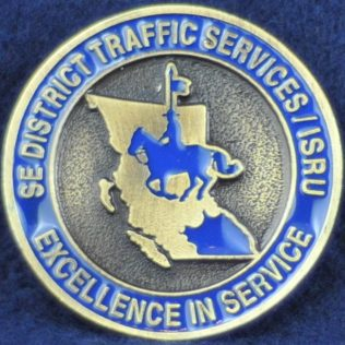 RCMP South East District E Division Traffic Services IRSU (gold)