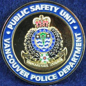Vancouver Police Department (VPD) Public Safety Unit