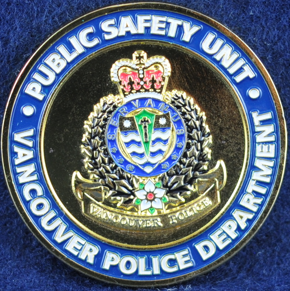 Vancouver Police Department (VPD) Public Safety Unit | Challengecoins ca