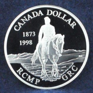 RCMP Canada Dollar 1873-1973 silver
