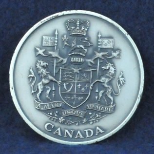 RCMP Coat of Arms Canada pewter