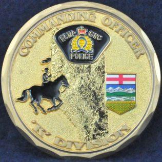 RCMP K Division Commanding Officer Gold