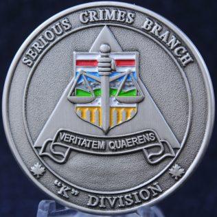 RCMP K Division Serious Crime Branch Alberta