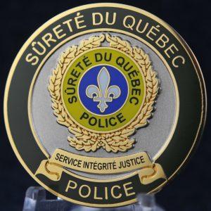 Surete du Quebec Mesure d'urgence autoroutier