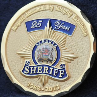 Alberta Sheriff 25 years 1988-2013