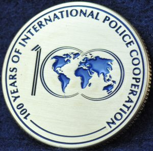INTERPOL 100 years of International Police Cooperation Bronze