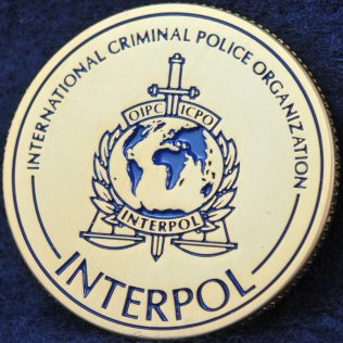 INTERPOL 100 years of International Police Cooperation Bronze