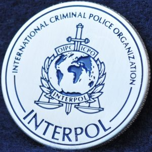 INTERPOL 100 years of International Police Cooperation Silver 2