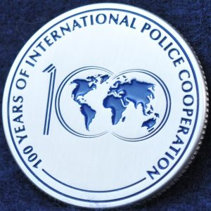 INTERPOL 100 years of International Police Cooperation Silver