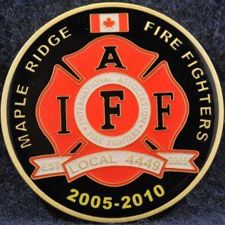 Maple Ridge Fire Fighters 2005-2010