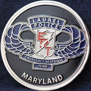 US Laurel Police Emergency Response Team