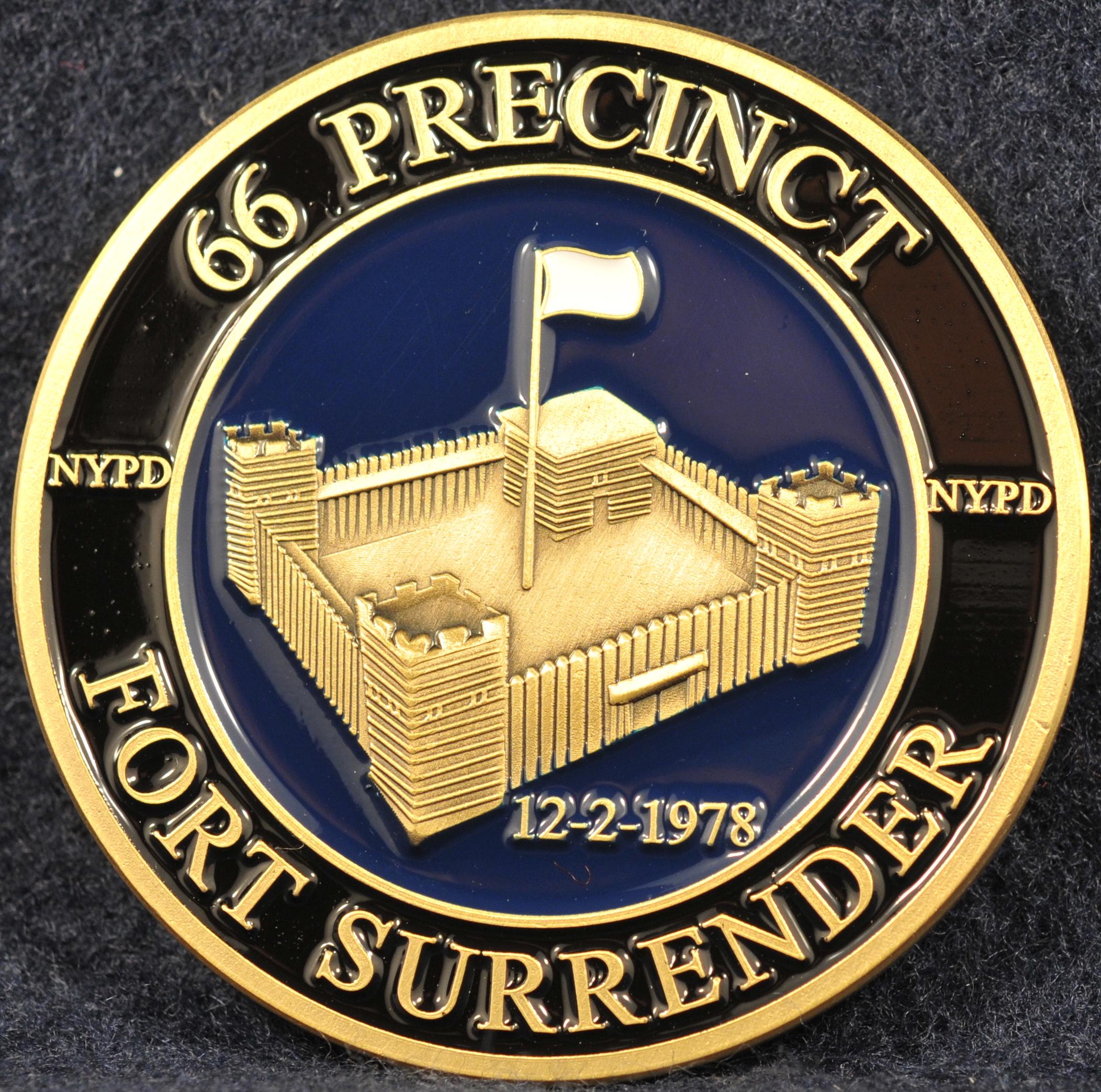Nypd 66 Precinct Challengecoins Ca