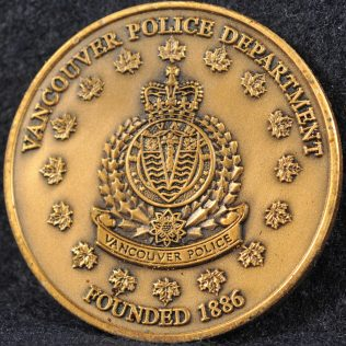 Vancouver Police Department VPD Bronze