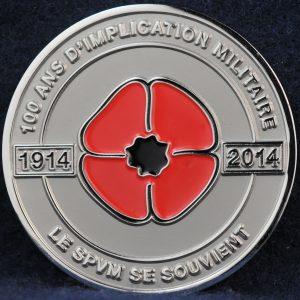 SPVM 100 ans d'implication militaire 1914-2014