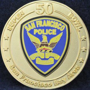 San Francisco Police 50th Super Bowl