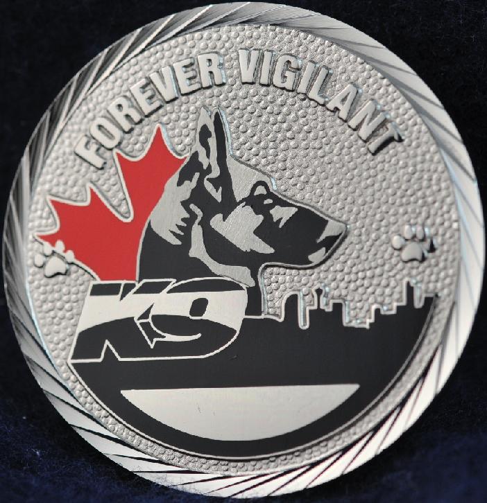 Calgary Police Service Dog Services K9   Challengecoins ca