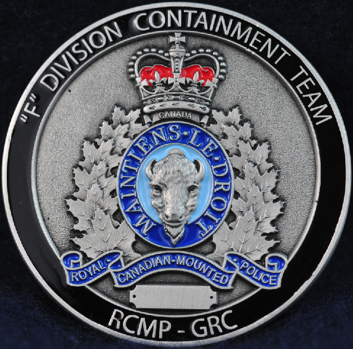 RCMP F Division Containment Team - Challengecoins.ca