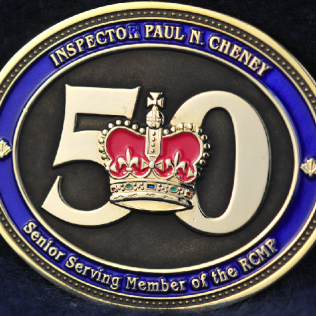 RCMP Inspector Paul N. CHENEY 50 years of service
