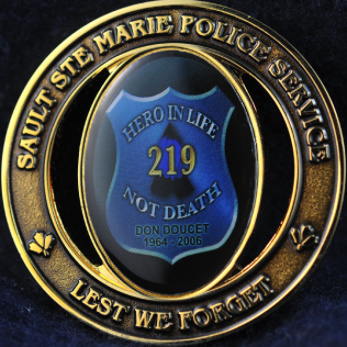Sault Ste Marie Police Service Hero in Life not Death Don Doucet