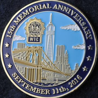 US NYPD 15th memorial anniversary September 11th 2001