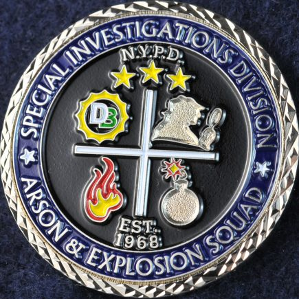 US NYPD Special Investigations Division Arson and Explosion Squad