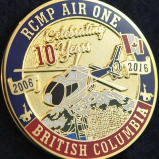 RCMP E Division Air One 10th Anniversary