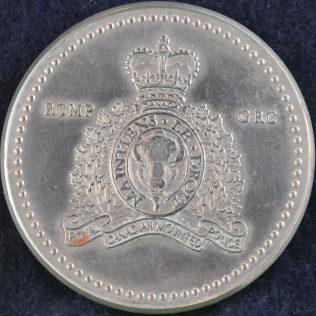 RCMP E Division coloured flag silver