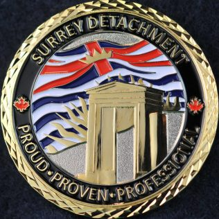 RCMP E Division Surrey Detachment Peace Arch gold