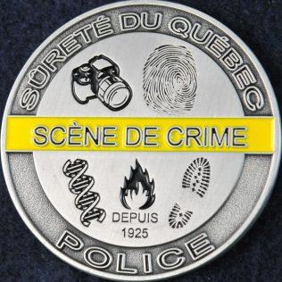 Sûreté du Québec - Service de la Criminalistique