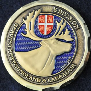 RCMP B Division servicing Newfoundland and Labrador 1949-2017
