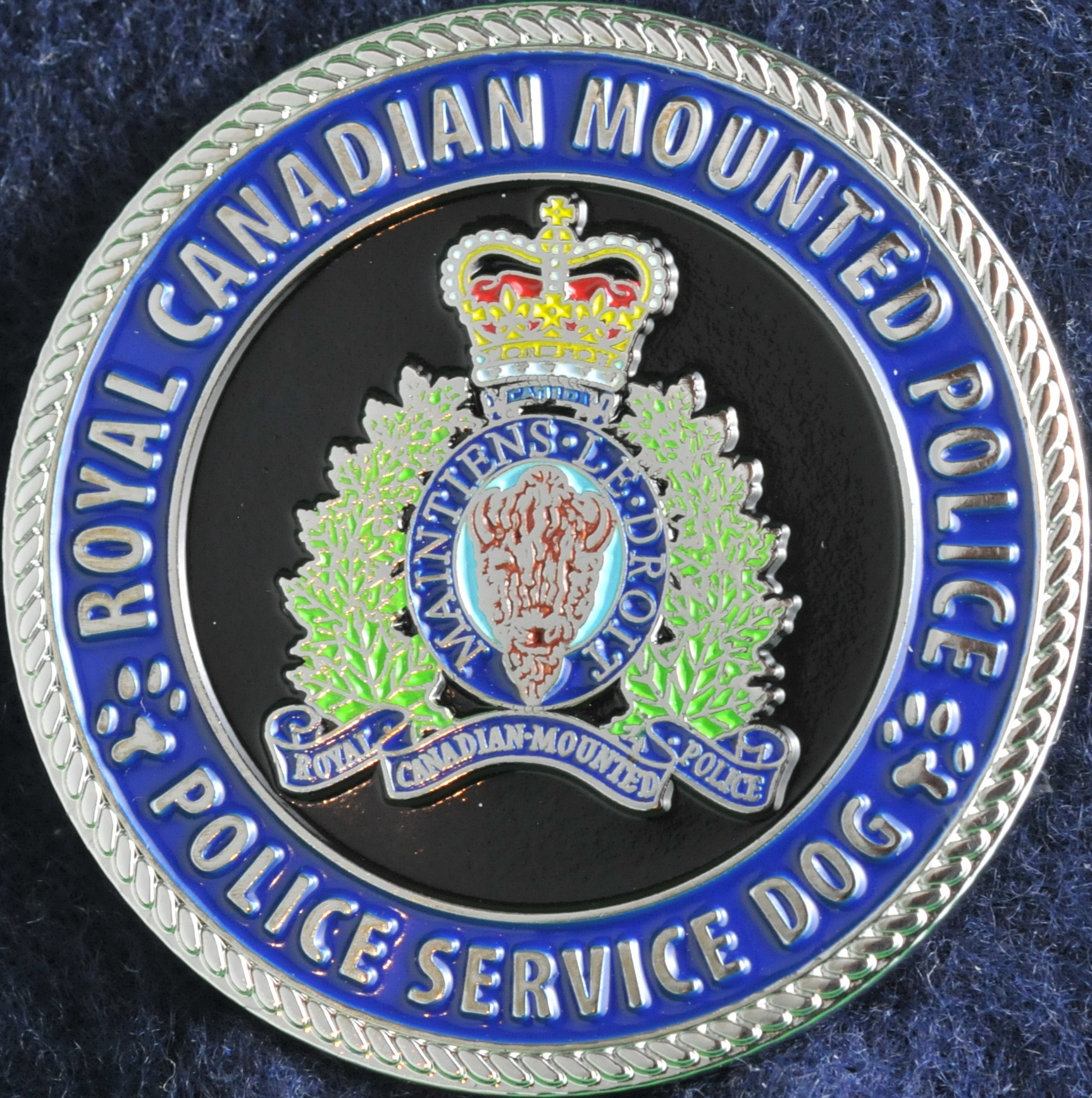 RCMP Police Service Dog - Challengecoins.ca