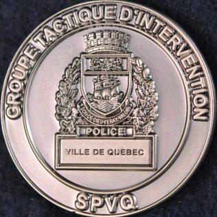 Service de Police de la Ville de Québec SPVQ - Groupe Tactique d'intervention