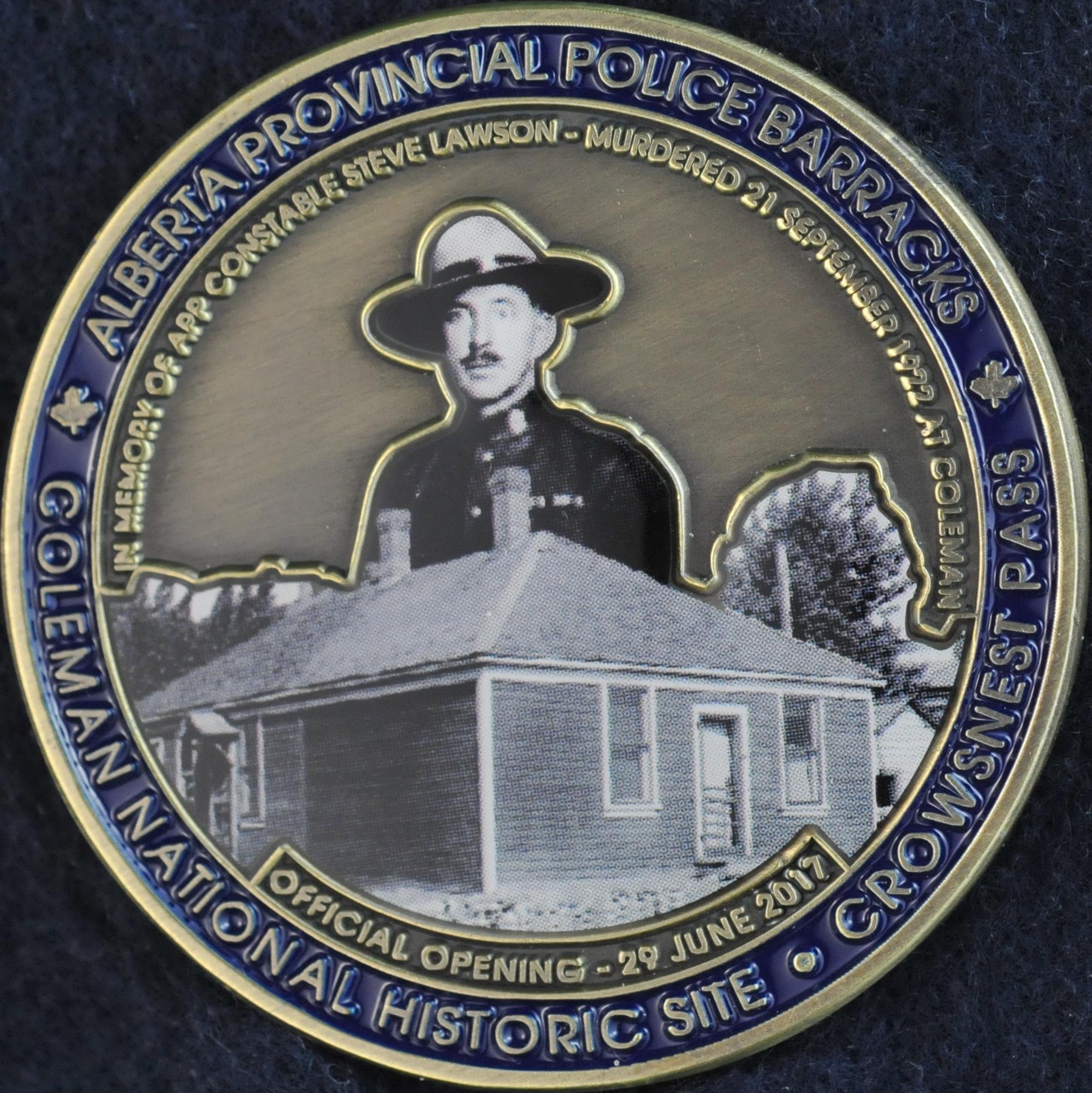 Alberta Provincial Police 1917 2017 100th Anniversary