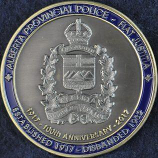 Alberta Provincial Police 1917 - 2017 100th Anniversary