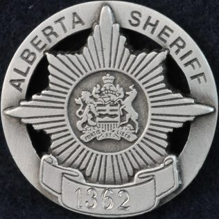Alberta Sheriff pewter coin