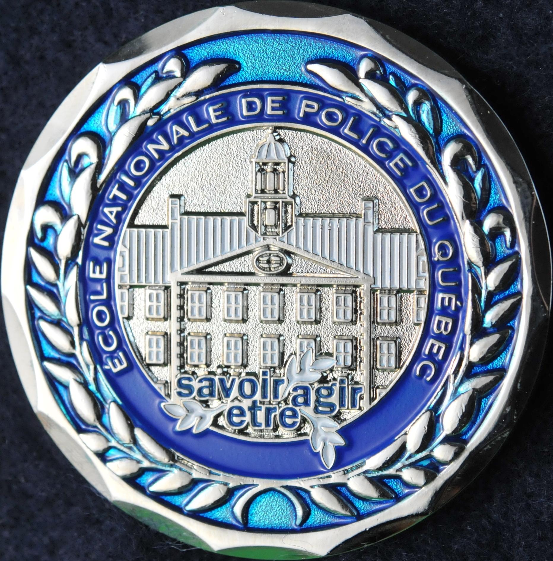 Ecole Nationale De Police Du Quebec Enpq Challengecoins Ca