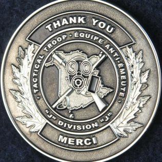 RCMP J Division Tactical Troop Thank You