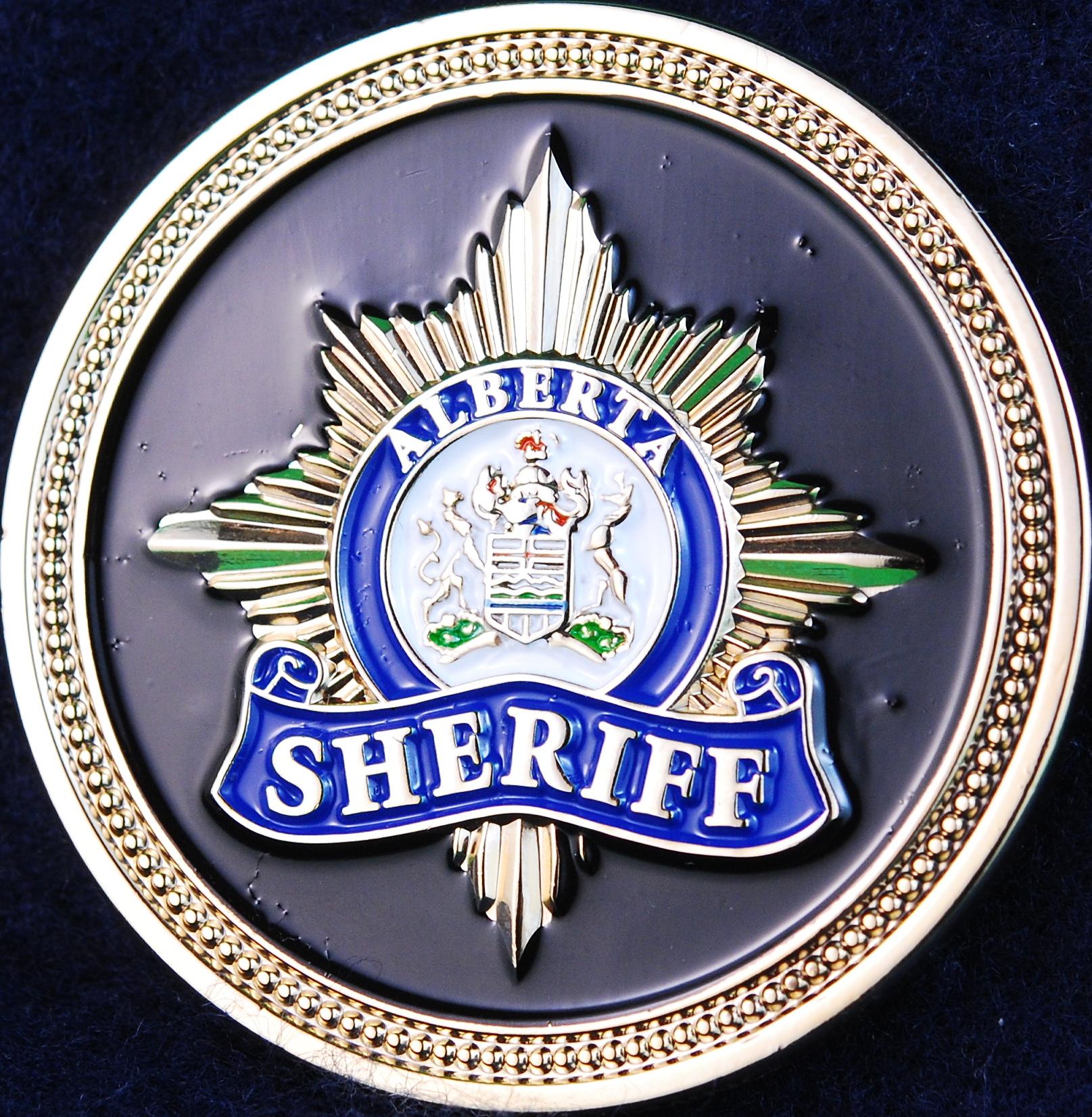 Alberta Sheriff Executive Protection Unit   Challengecoins ca