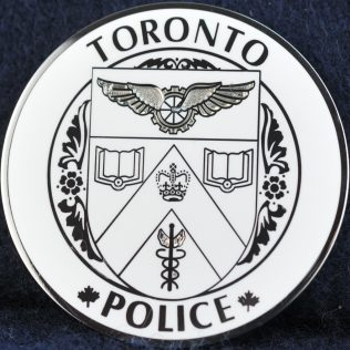Toronto Police Service Maple Leaf Thin Blue Line white