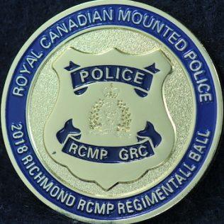 RCMP E Division Richmond BC Regimental Ball 2018